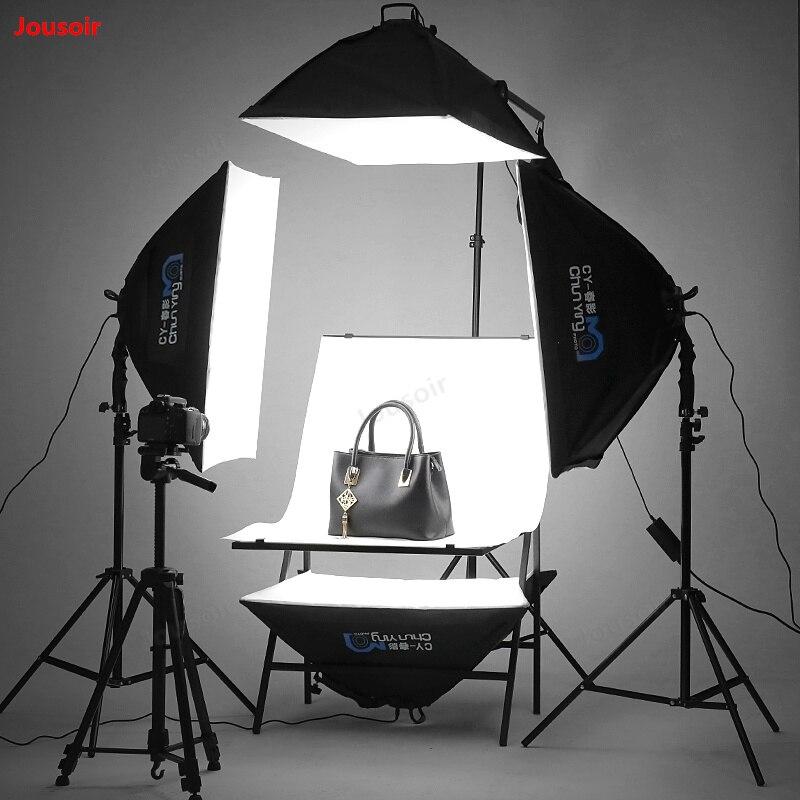Conjunto de 4 luces LED de estudio pequeño para teléfono móvil, lámpara de fotografía profesional, SoftBox, accesorio de disparo, luz de relleno fotográfica CD50 T11
