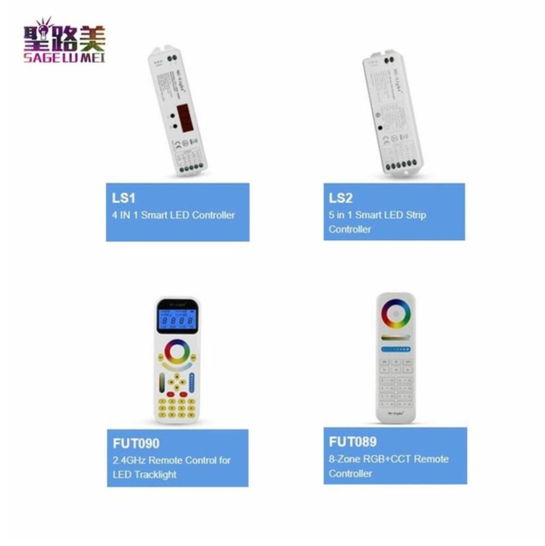 FUT089 FUT090 8-Zone пульт дистанционного управления LS1 LS2 5 в 1 4 в 1 умный контроллер для RGB RGBW CCT одноцветная Светодиодная лента