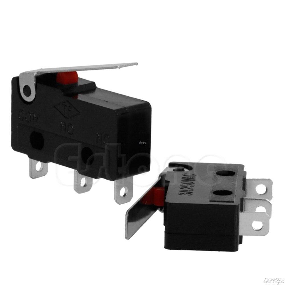 2 uds 3A AC C + NO + NC Micro Sensor de límite palanca de brazo de rodillo subminiatura #319