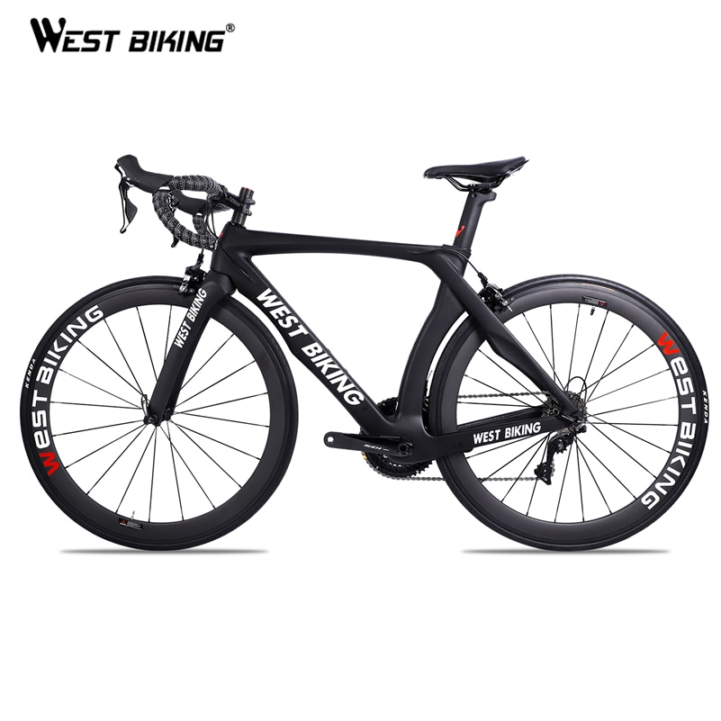 WEST BIKING-Bicicleta de carretera de carbono, 700C, 22 velocidades, con SHIMANO R7000