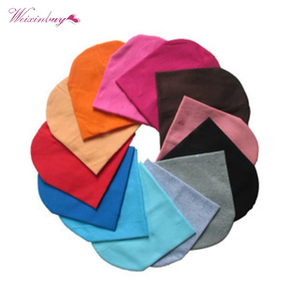 WEIXINBUY 22 Colors Unisex Infant Soft Crochet Newborn Baby Boy Girl Hat Cotton Beanie Warm Cap Candy Color