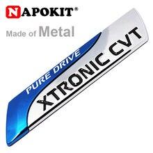 Pour Nissan métal pur Drive XTRONIC CVT Nismo emblème Badge queue autocollant Qashqai x-trail Juke Teana Tiida Note ensoleillée voiture style