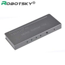Metalen 3D 4K * 2K HDMI 2160P HDMI Splitter 1X4 Hdmi Hub Repeater Versterker 1080p 1 in 4 out converter adapter met Retail Verpakking