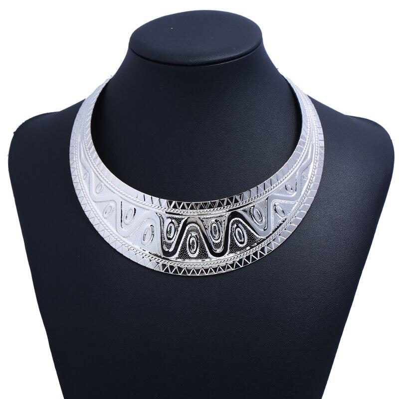 Женское богемное колье LZHLQ, массивное винтажное этническое колье-чокер, модные ювелирные изделия