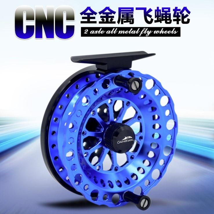 2BB CNC full Metal fly fishing Raft fish rueda de línea carrete de pesca Micro-balsa No freno de mano dial carrete de acero inoxidable rodamiento principal