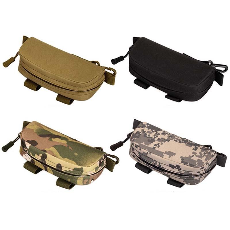 Portable Outdoor Tactical Glasses Bag Camouflage Men Nylon Waist Belt Sunglasses Pack Eyeglasses Case Outdoor Clutch Bag
