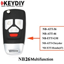 KEY DIY NB26 3+1buttons Universal Remote key, KD NB26 multifunction remotes, KD900 MINI KD remote key generator