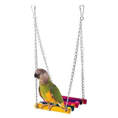 Качели игрушки для домашних животных попугай клетка радуга красочные Игрушки   
