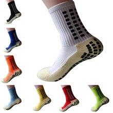 Calcetines de fútbol antideslizantes para hombre, medias deportivas de algodón, del mismo tipo que el Trusox, novedad