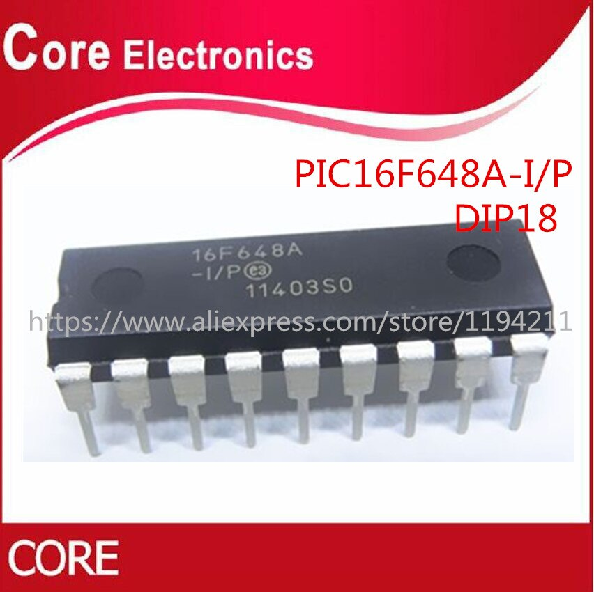 10pcs/lot PIC16F648A-I/P PIC16F648 PIC16F PIC DIP-18 IC CHIP
