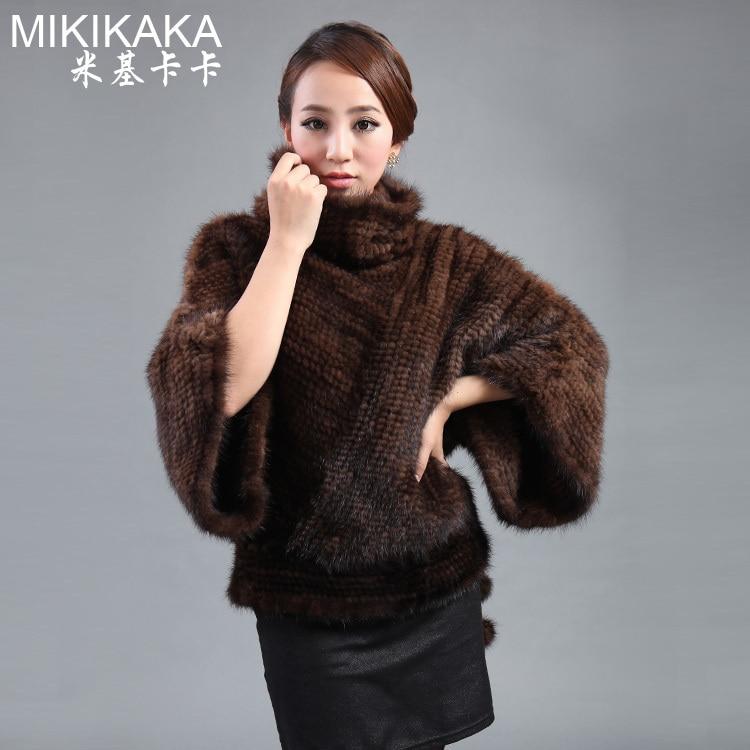 Fashion new Ladies' mink fur coat,Elegant Noble women's knitted mink coat,knitted fur coat free shipping FK5320