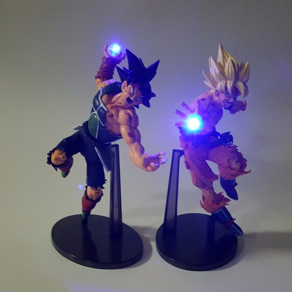 Dragon Ball Z Action Figures Son Goku Burdock Kamehameha Led Light 150mm Anime Super Saiyan DBZ