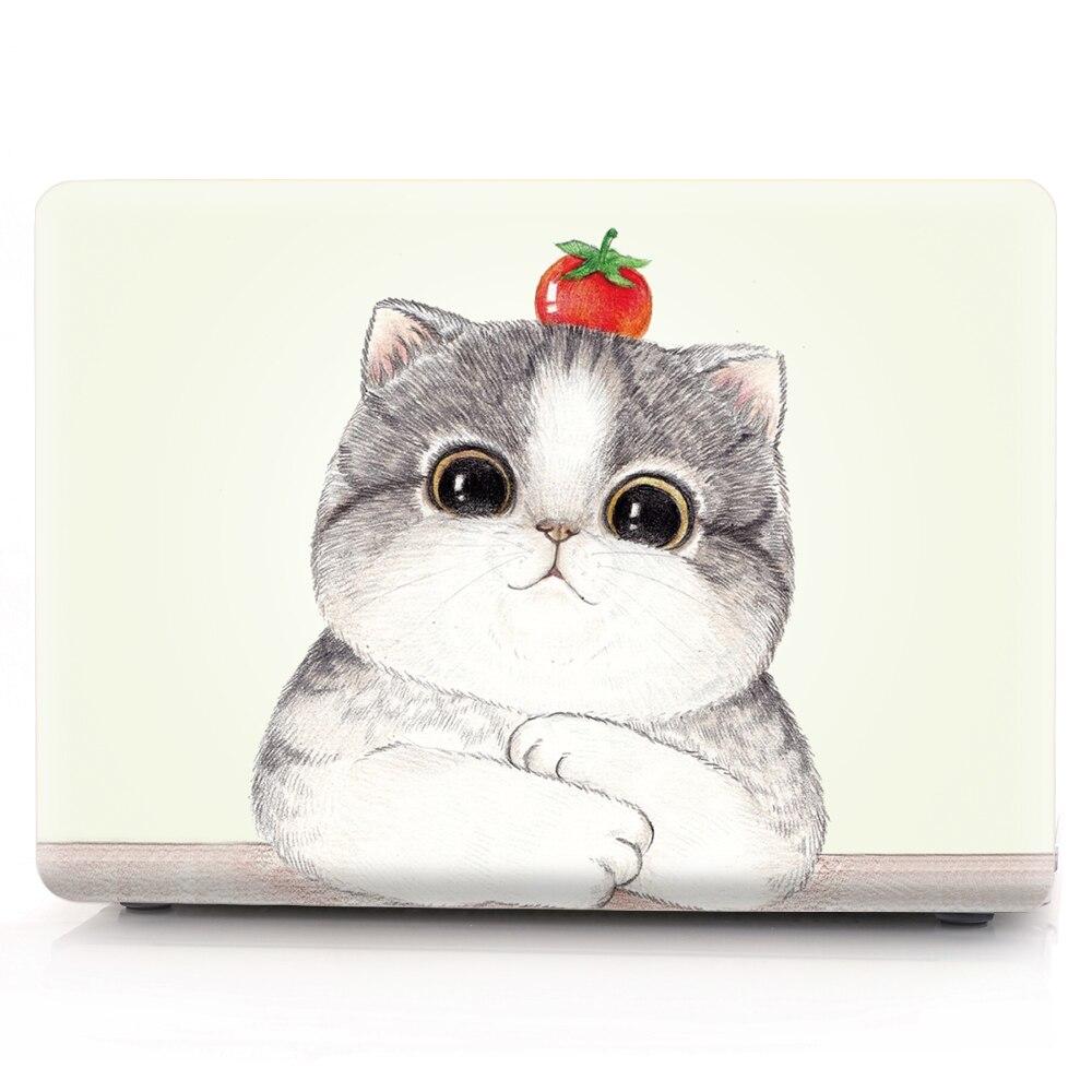Cat Patter PVC cubierta cristal popular funda transparente para Macbook Retina 12 Air 11,6 13,3 Pro 13 A1708 Pro 15 A1286 nuevo Air 13