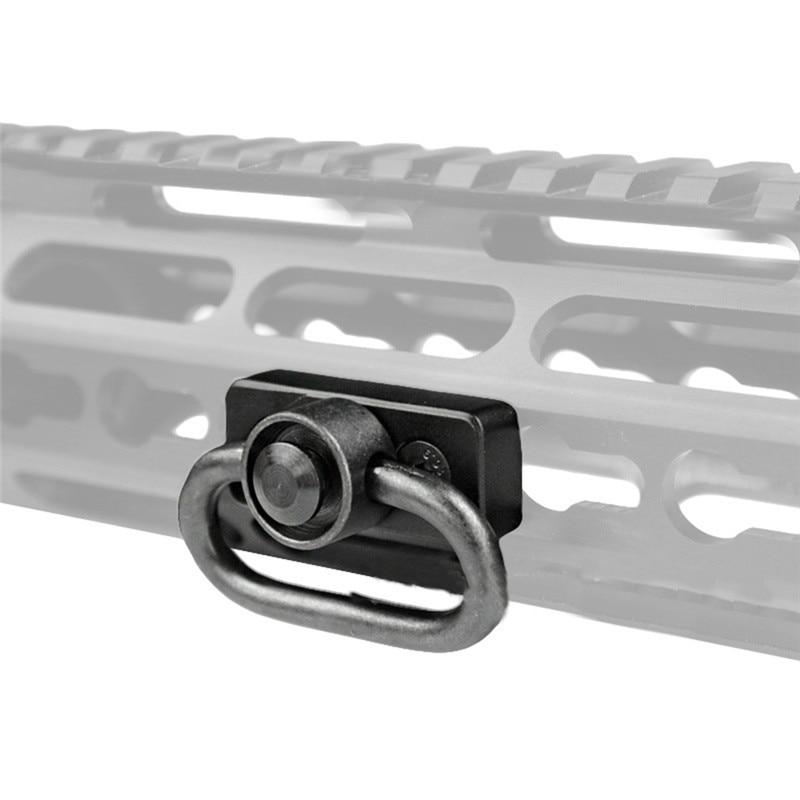 Support adaptateur pivotant QD Sling avec Base Keymod pour Rail de garde-main AR15 avec adaptateur de fixation de clé Allen accessoires de pistolet de chasse