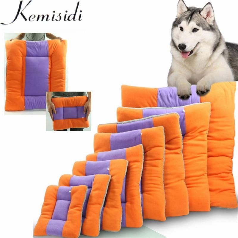 KEMISIDI Dog Cat Cushion Mat Soft Puppy Sleep Bed Kennel Warm Thick Pet Blanket Pad Matress Sofa For Small Medium Dogs S-XL