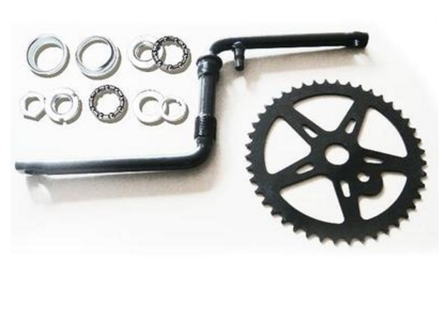 Retro strand bike 44 t kettenrad kalt schmieden 165mm Siamese Kurbel 51,6mm BB teile Fahrrad kettenblatt Zubehör strand bike