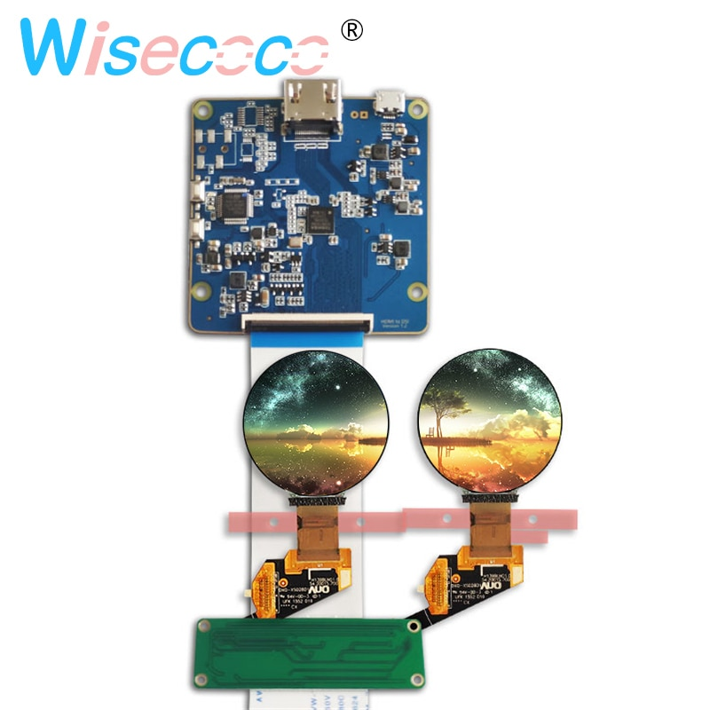 1.39 Inch Micro OLED Screen MIPI Display 400*400 Round AMOLED With Controller Board for Watch Wearable Devices