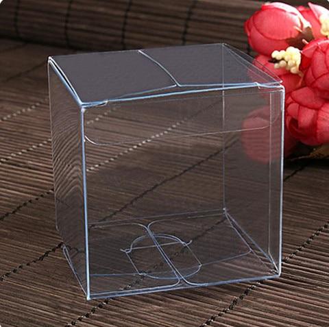 Cajas de PVC transparentes impermeables de 5x5x5 cm de 20 piezas que empaquetan una pequeña caja de plástico transparente para almacenar alimentos/joyas/dulces/Regalos/cosméticos