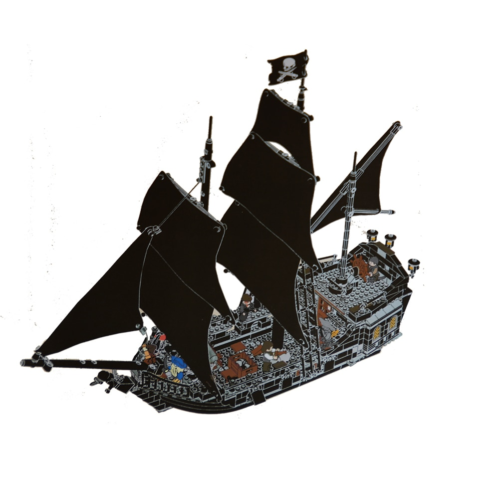 804pcs building blocks Pirates of the Caribbean the Black Pearl Ship model DIY Educational bricks Toys 4184