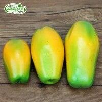 high artificial papaya fake fruit set model props at home decoration
