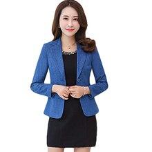 Elegant Office Ladies Blazer Mujer Blue Small Suit Jacket Women Tops Plus Size 5XL Chaqueta Mujer Blazer Women Basic Coat CM1116