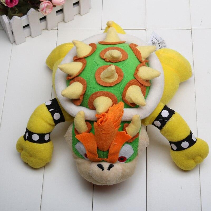 Super Mario Bro Koopa Bowser dragón peluche muñeca juguetes 23cm