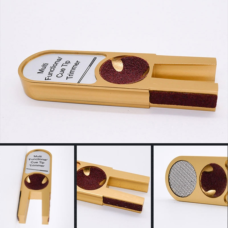 Nuevo reparador en forma de U Snooker billar punta para taco de billar recortadores herramienta de reparación accesorios multifunción BFE88