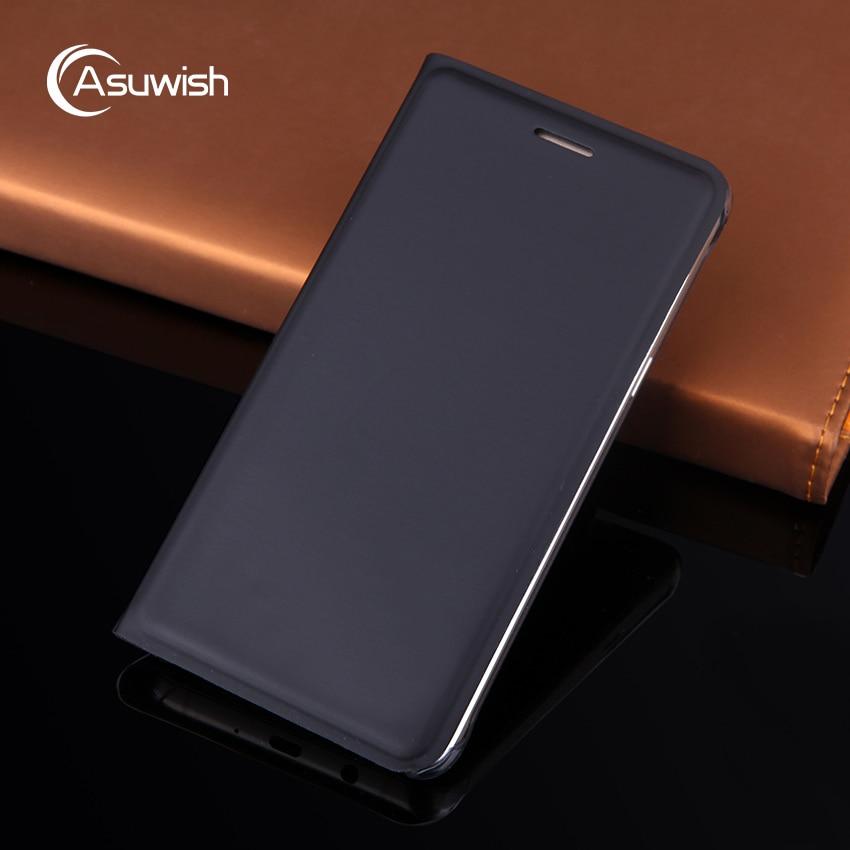 Asuwish flip caso capa de couro para samsung galaxy j5 2016 j5 2015 J3 J7 Pro 2017 J2 J4 J6 Plus J8 2018 Grand Prime telefone caso