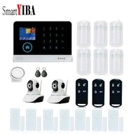 SmartYIBA     systeme dalarme de securite sans fil  clavier tactile  Wifi  GSM  SMS  RFID  camera IP  controle a distance avec application