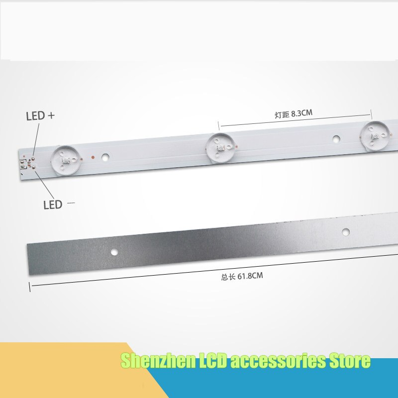 10 peças/lote para Changhong LED32538 lâmpada 4708-K320WD-A4213K01 618 MILÍMETROS 100% NOVO