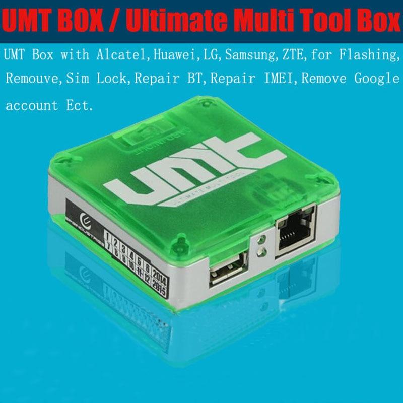 2018 Original UMT caja final Multi herramienta (UMT) UMT caja para samsung Alcatel Huawei Ect con 1 Uds cable
