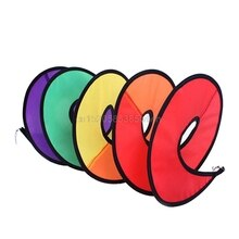 1 adet katlanabilir gökkuşağı Spiral fırıldak rüzgar Spinner ev bahçe dekor çocuk oyuncak # HC6U # Drop shipping