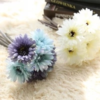 8colors silk african daisy gerbera artificial flower bridal bouquet diy wedding decoration home party fake flowers