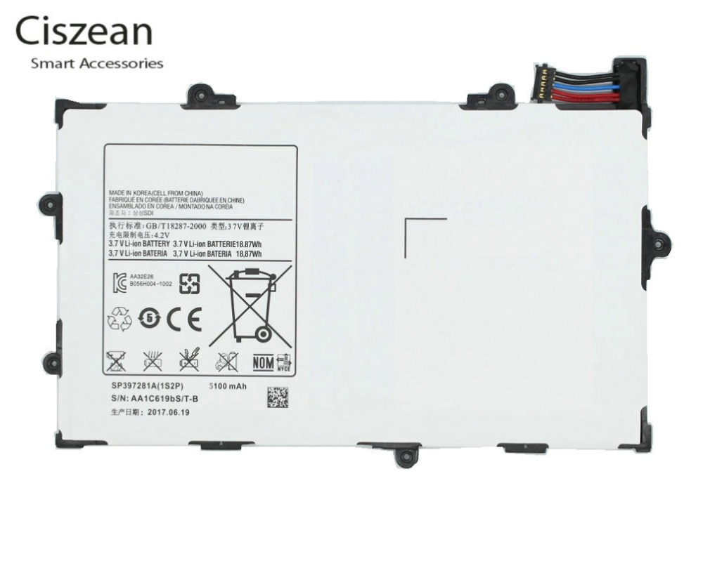 Ciszean 1x3,7 V 6100mAh SP368487A (1S2P) batería de repuesto para la batería DE LA Galaxy Tab 8,9 P7300 P7310 P7320 GT-P7300 GT-P7310 GT-P7320