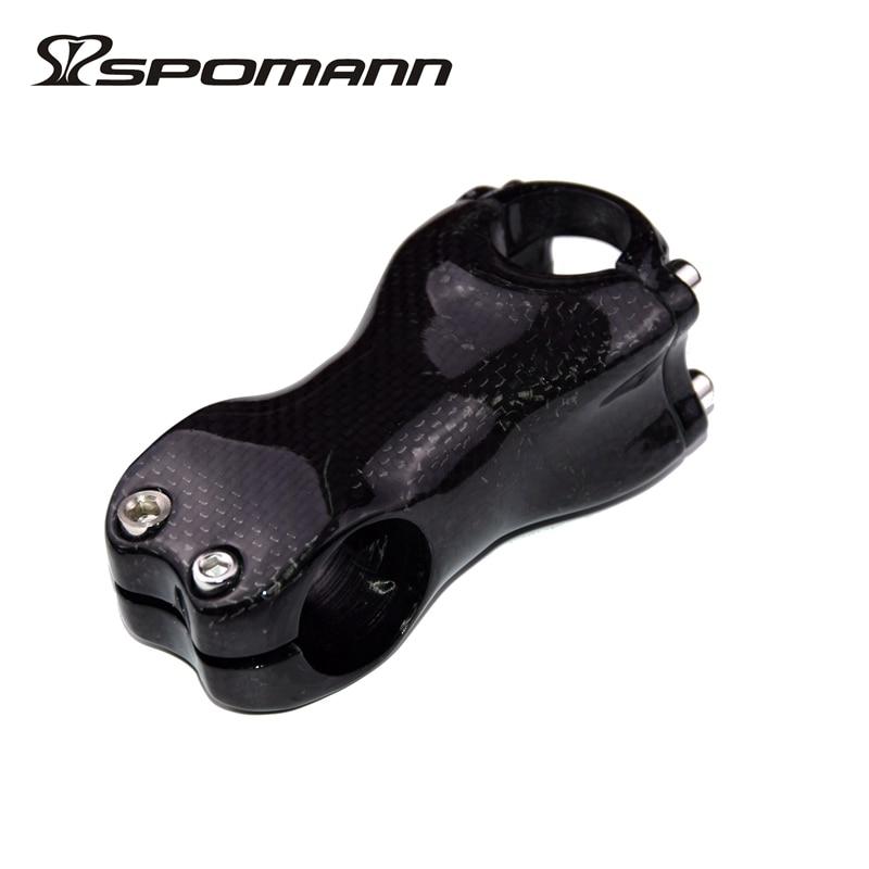 Vástago completo de fibra de carbono Spomann 3K brillante/3 K vástagos de Bicicleta mate bmx 25,4*70mm/25,4*80mm piezas de Bicicleta para niños