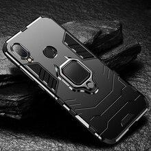 Fall für Xiaomi Redmi 7 Fall Redmi 7 Silikon Rüstung Stoßstange Stoßfest Telefon Fall für Redmi 7 Fällen mit Auto halterung funktion