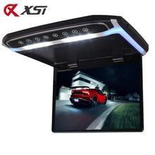 XST-moniteur monté sur le toit de voiture   17.3 pouces, lecteur LCD TFT rabattable vers le bas, avec vidéo HD 1080P USB FM HDMI SD, bouton tactile, plafond, lecteur MP5