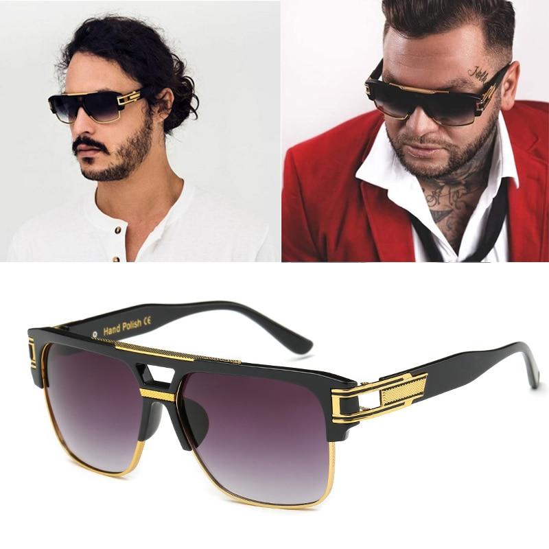 Gafas de sol de diseñador DPZ para hombre con montura grande uv400 Vintage steampunk, gafas de sol para mujer grandmaster