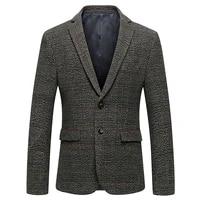 2019 spring british style slim fit blazers classic business jacket blazer men casual male wool suit jacket mens stripe blazer