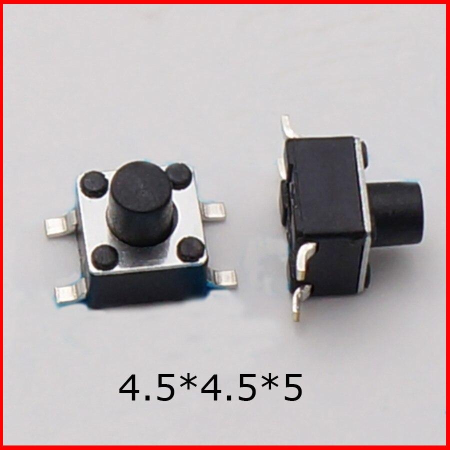20 Uds./lote 4 pines 4,5*4,5*5 MM Tactile botón Micro interruptor momentáneo envío gratis