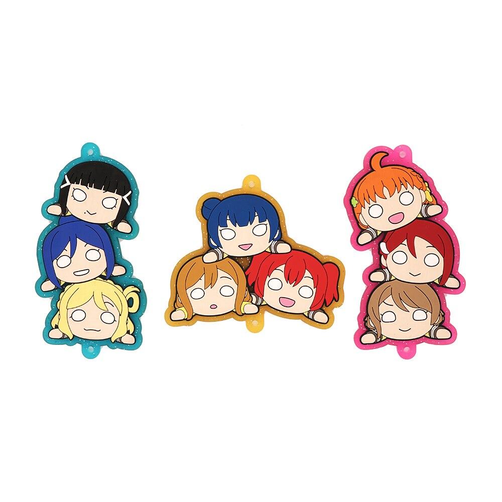 Amor en Directo especial-Anime Chika ¿Yoshiko Ruby Dia Kanan Hanamaru Mari Riko Nesoberi equipo llavero de goma