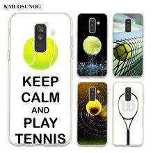 Transparent TPU Cover tennis For Samsung Galaxy A750 A9 A8 A7 A6 A5 A3 Plus 2018 2017 Phone Case