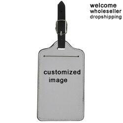 Custom Made Etiquetas de Bagagem Mala Imagem Do Logotipo Padrão de Nome Etiqueta de Endereço ID Titular Viagem Acessórios Presentes de Aniversário