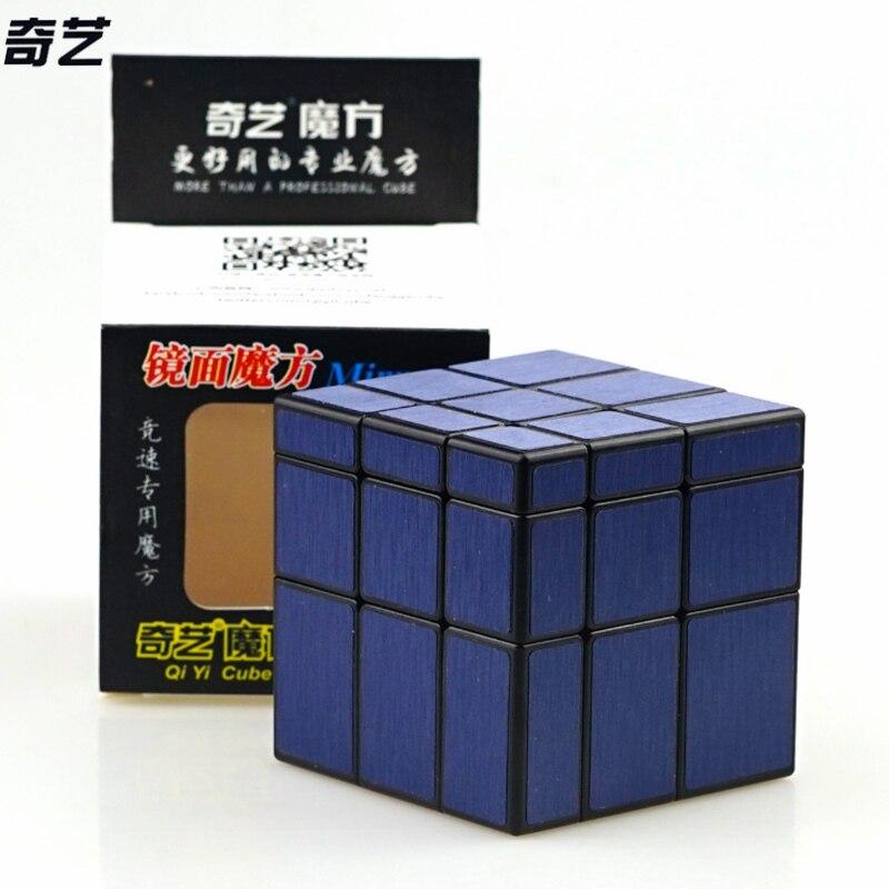 Mais novo qiyi 3x3x3 blocos de espelho cubo mágico competição velocidade quebra-cabeça cubos brinquedos para crianças crianças cubo magico