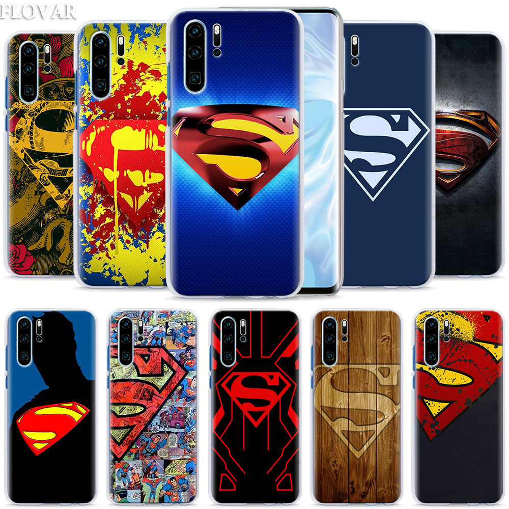Чехол для телефона с логотипом Супермена для Huawei P30 Pro P10 P20 P30 Lite P8 P9 Lite P Smart Plus