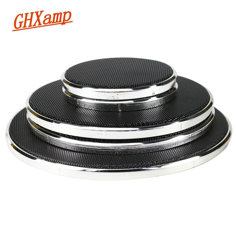 GHXAMP 2PCS 1 inch 2 inch 6.5 inch Speaker Grill Mesh Enclosure Car Loudspeaker Protective Cover Tweeter Net Silver Spray Black