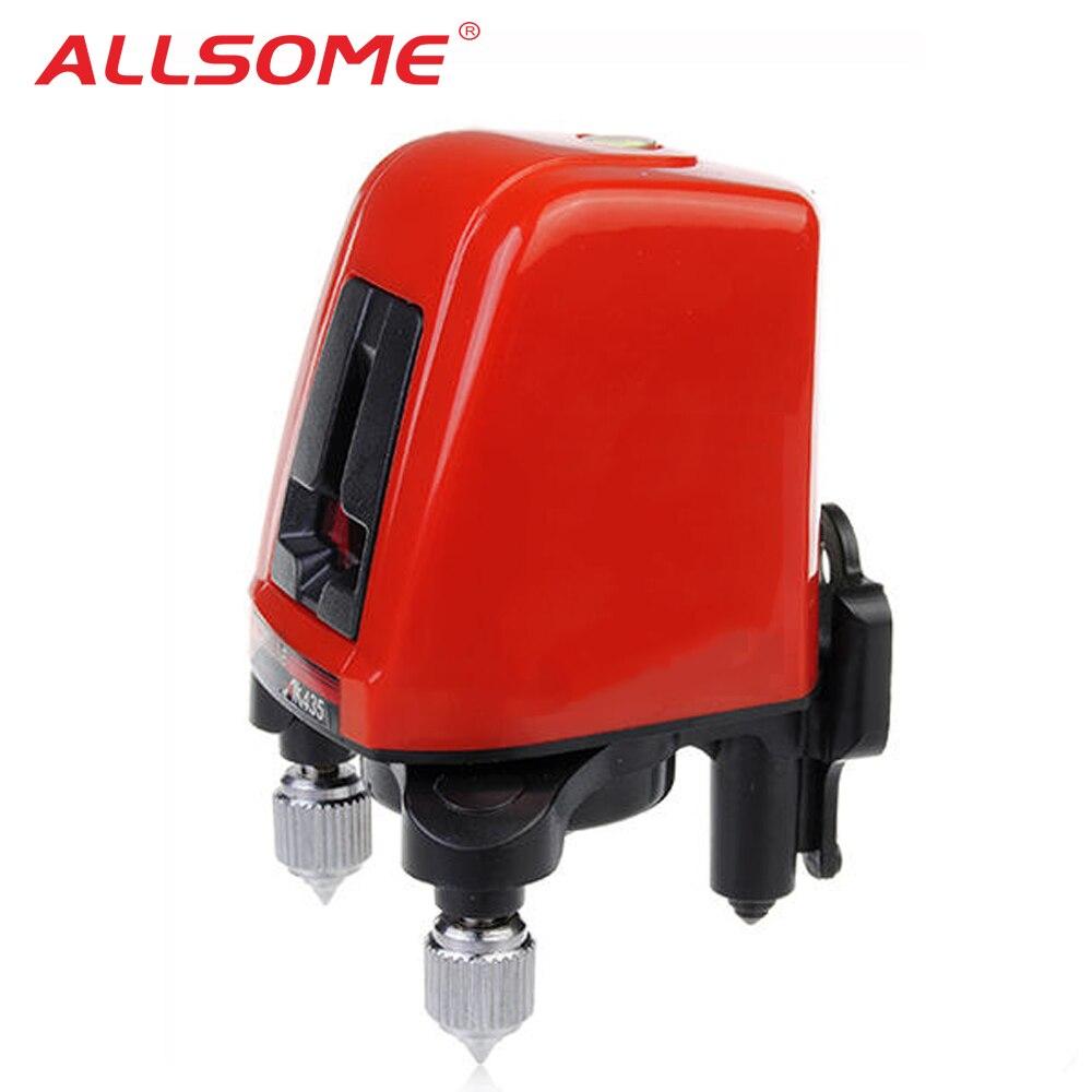 ALLSOME AK435 Nivel de láser cruzado autonivelante de 360 grados línea Horizontal Vertical nivel láser rojo 2 Línea 1 punto HT2501