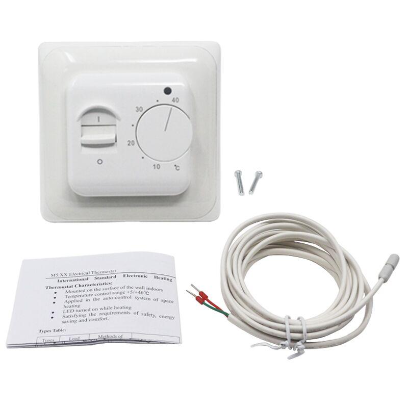 Termostato de pared eléctrico con calefacción por suelo regulador de temperatura caliente 220V 230V 16A NTC Sensor programable Universal