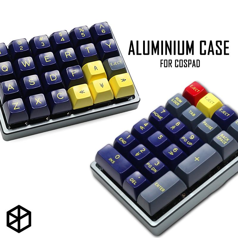 علبة لوحة مفاتيح مخصصة من الألومنيوم المؤكسد ، حافظة مزدوجة الغرض مع أقدام مخروطية من الألومنيوم CNC ، لـ cosplay xd24