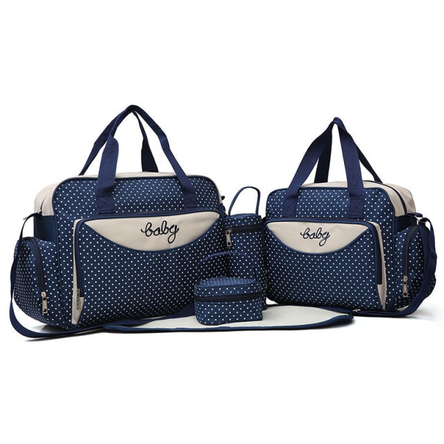 5 Pieces Multifunctional Large Capacity Mother Diaper Bag For Babies Traveling Bag Fashion Maternal Nappy Messenger Bag Products